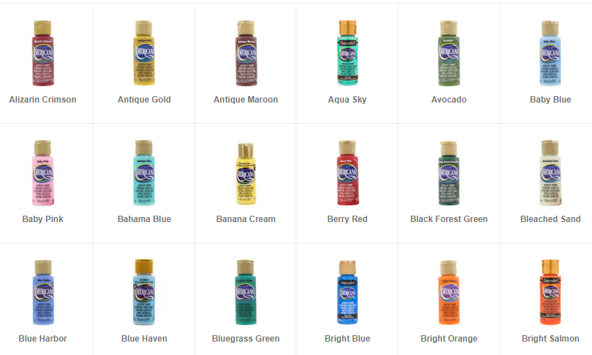 Americana Acrylic Paint 2 oz Squeeze Bottles Various Colors! New! Price Per  - $2.15