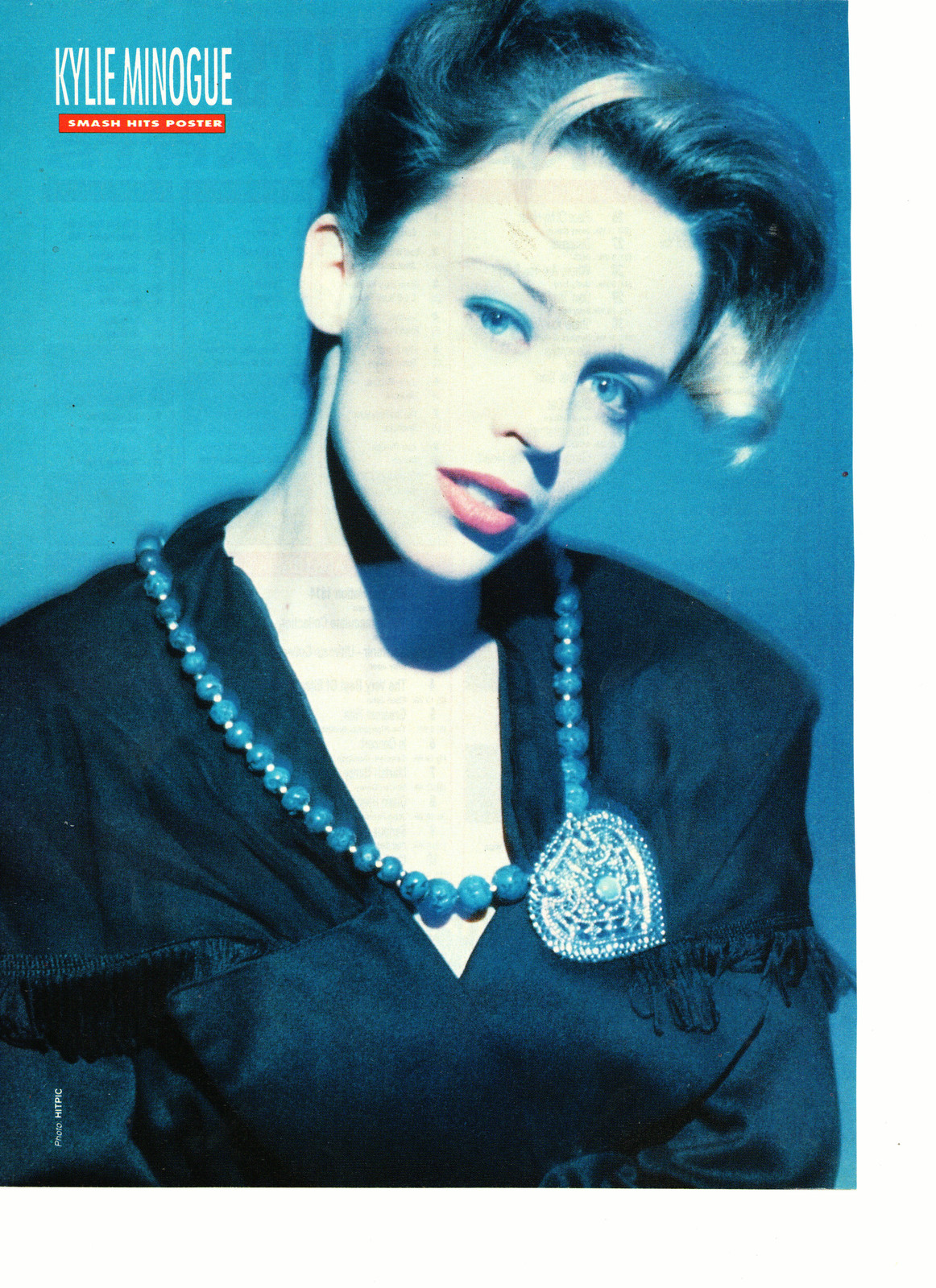 Primary image for Kylie Minogue teen magazine pinup clipping blue necklace