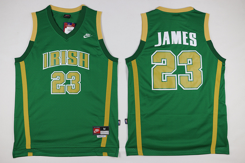 Lebron james stvm the fighting irish 23 ncaa high school for Irish jewelry stores in nj