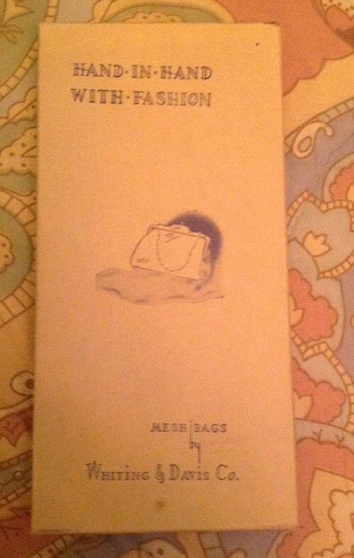 Whiting & Davis Goldtone Mesh Eyeglass Case Vintage NIB