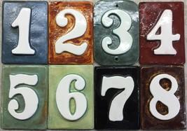 Numbers tile address / Mailbox Post  - handmade ceramic .Applewood Pottery - $3.99