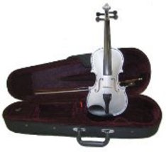 Lucky Gifts 1/8 Size Beginner, Student Violin with Case and Bow ~ Grey - $49.50