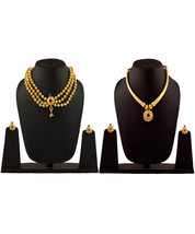 Womens Trendz Combo Pack of Two Traditional, Ethnic and Antique 24K Gold Plated  - $65.00