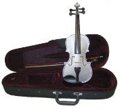 Lucky Gifts 1/10 Size Beginner, Student Violin with Case and Bow ~ Grey