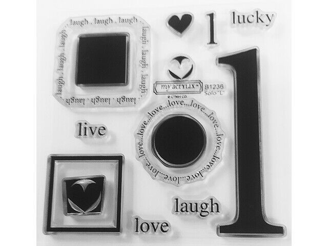 """Close to My Heart Solo """"L"""" Clear Acrylic Stamp Set #B1236"""