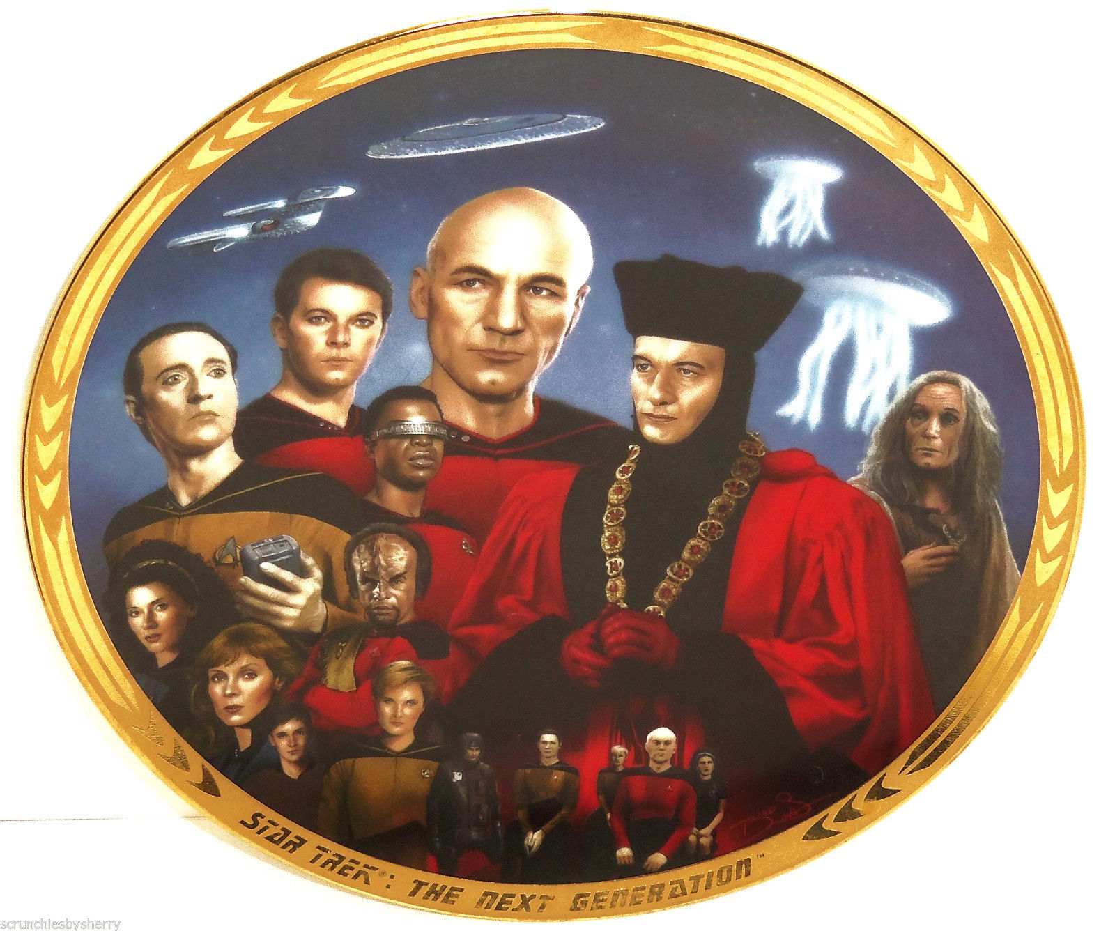 Star Trek Collector Plate Encounter At Farpoint Hamilton Collection Vintage