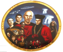 Star Trek Collector Plate Encounter At Farpoint Hamilton Collection Vintage - $59.95