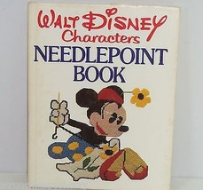 Walt Disney Characters Needlepoint Book Craft Mickey Vintage 1976 First ... - $39.95