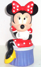 Disney Minnie Mouse Bank Coin Money Sitting Pretty Red Polka Dot Dress - $39.95