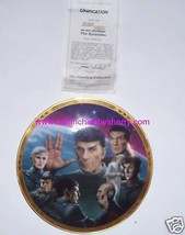Star Trek Collector Plate Unification Next Generation Hamilton Vintage 1989 - $59.95