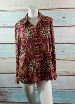 Tommy Hilfiger Plum Tan Brown  Paisley Floral S... - $14.95