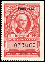 R648, Unused XF $100 Documentary Stamp Cat $55.00 - Stuart Katz - $40.00