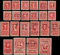 R436//R460, F-VF Mint/Used 22 Diff Documentary Stamps Cat $295.00 - Stua... - $210.00