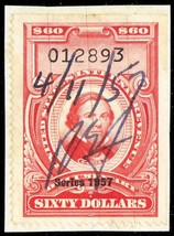 R708, Used Several Cut Cancels $60 Documentary Stamp Cat $140.00 - Stuar... - $70.00