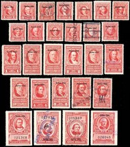 R586//R614, F-VF Mint/Used 28 Diff Documentary Stamps Cat $410.00 - Stua... - $290.00
