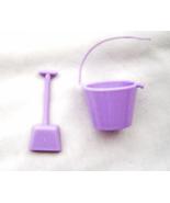 Miniature Lavender Bucket and Shovel Opening Handle Barbie Plastic - $5.99