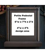 Vintage Dark Chocolate Petite Pedestal Frame Lo... - $75.00