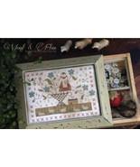 Wool & Flax cross stitch chart With Thy Needle ... - $12.00
