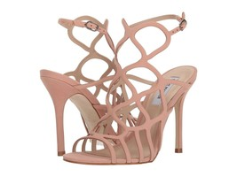 Steve Madden Teagan Caged Dress Sandals, Multiple Sizes Blush Nubuck TEAG02S1 - $79.96