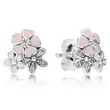 925 Sterling Silver Poetic Blooms Stud Earrings QJCB873 - $19.99
