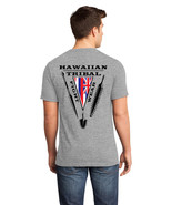 Hawaiian Tribal Fight Wear Martial Arts T-Shirt LARGE Gray weapons islan... - $16.99
