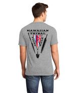 Hawaiian Tribal Fight Wear Martial Arts T-Shirt 2XL Gray weapons islands... - $17.99