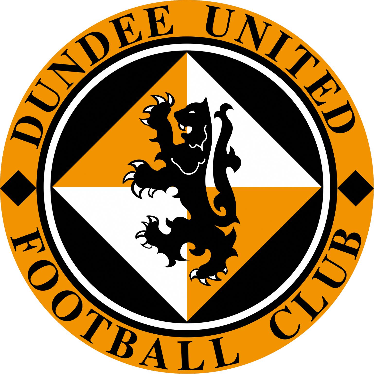 Dundee United FC vinyl sticker shaped contoured 120mm football