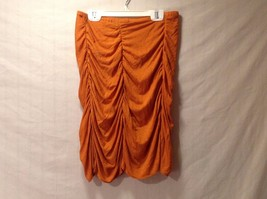 Burnt Orange Gathered Fitted Mini Skirt Size Small Excellent Annie Walwyn-Jones