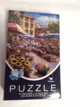 "NIB Sku# 164106 400 pc puzzle 14 x 11"" cottage flowers Cardinal - $5.89"