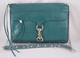 Rebecca Minkoff Mac Daddy Clutch in TEAL with Light Gold Hardware NWT - $331.65