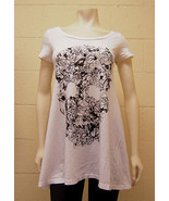 Lauren Moshi White Vine Skull T-Shirt Dress NEW 3001-TNC-1138 - $90.00