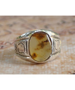 Silver agate aqeeq Men Ring-Middle Eastern-yeme... - $32.67