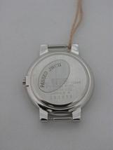 Case silver tone white blue/white dial - $49.50