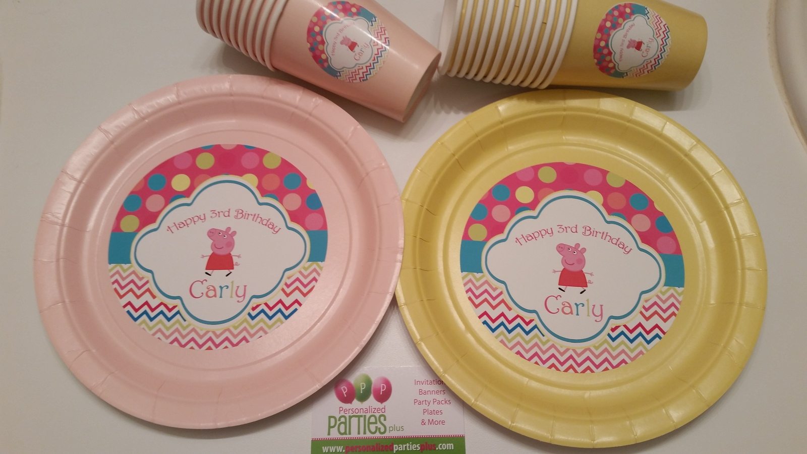 Peppa Pig plates | Peppa pig plates for birthday parties