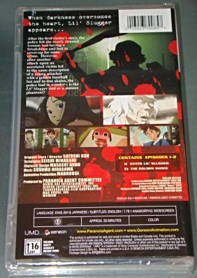 Sony PSP UMD VIDEO - SATOSHI KON's Paranoia Agent Volume 1 (Anime)