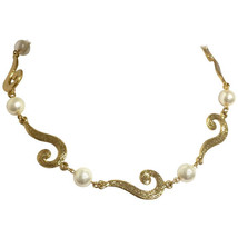 MINT. Vintage Moschino chain statement necklace with golden question marks and w - $238.00