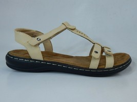Cushionaire Size US 6.5 W WIDE Women's Bamboo Comfort Footbed Strap Sandal Beige - $41.45