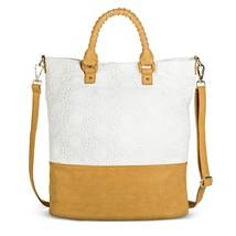Merona Women's Small Slouchy Tote White/Brown - $24.41