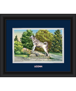 "University of Connecticut Husky Dog Statue 15 x 18 ""Campus Images"" Frame... - $42.95"