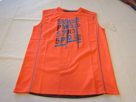 Boys youth Reebok surf skate L muscle tank top shirt 820 neon orange vqx... - $32.66