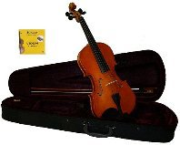 Lucky Gifts 1/4 Size Beginner, Student Violin,Case,Bow,2 Sets Strings~Natural
