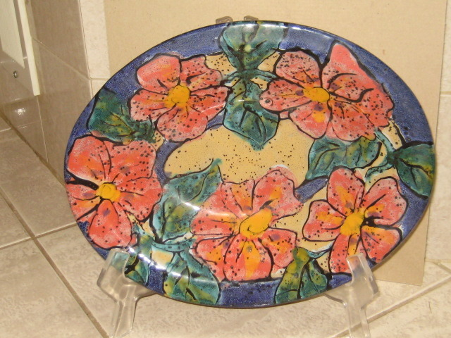 FABULOUS HANDMADE HAND PAINTED ART POTTERY BOWL - MINT CONDITION