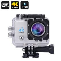 4K Wi-Fi Waterproof Action Camera (Silver) - $59.91