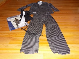 Size Medium 8-10 Gangeter Halloween Costume Black White Striped Pants Ja... - $28.00