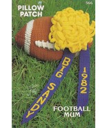 Football Mum, Annie's Crochet Pattern Leaflet 566 Pillow Patch Series OOP - $4.95
