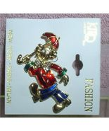 Clown Brooch Pin with Red Unbrella green blue and red Pin/Pins - $7.99