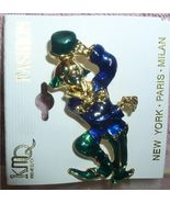 Clown Brooch Pin with top hat green and Blue Pin/Pins - $7.99