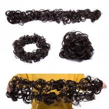 100% Real LARGE Thick Messy Bun Hairpiece NaturalHair Extension Curly image 14