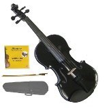Lucky Gifts 3/4 Size Beginner, Student Violin,Case,Bow,2 Sets Strings ~ Black