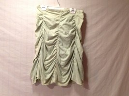 Excellent Condition Pastel Green Gathered Fitted Mini Skirt Annie Walwyn-Jones